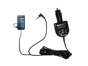 FM Transmitter & Car Charger compatible with the Gigabyte GSmart Rio R1