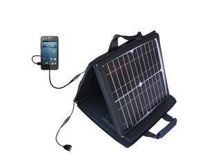 SunVolt MAX Solar Charger compatible with the Gigabyte GSmart Rio R1 and one other device&#59; charge from sun at wall outlet-like s