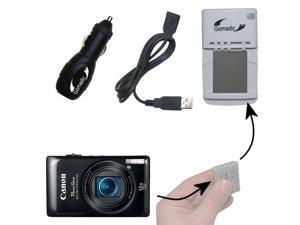 Lithium Battery Fast Charger compatible with the Canon Powershot ELPH 100 110 115 130 320 330 500 510 520 530