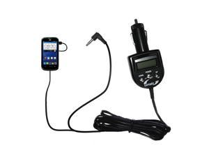 FM Transmitter & Car Charger compatible with the ZTE Overture