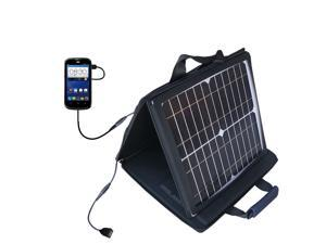 SunVolt Solar Charger compatible with the ZTE Overture and one other device - charge from sun at wall outlet-like speed