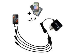 Quad output Wall Charger includes tip for the Sony Ericsson Xperia active