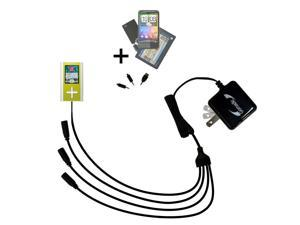 Quad output Wall Charger includes tip for the Toshiba Gigabeat F60 MEGF60