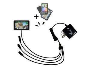 Quad output Wall Charger includes tip for the Garmin Nuvi 3590 3590LMT
