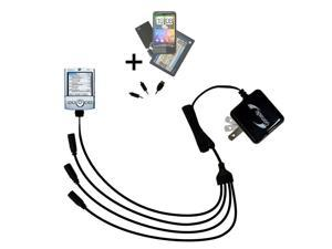 Quad output Wall Charger includes tip for the Palm palm Tungsten T2