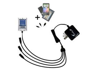 Quad output Wall Charger includes tip for the Palm palm Tungsten E