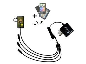 Quad output Wall Charger includes tip for the HTC HTC EVO 3D