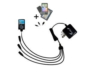 Quad output Wall Charger includes tip for the Sandisk Sansa Fuze