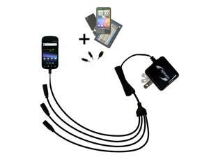 Quad output Wall Charger includes tip for the Google Nexus S 4G