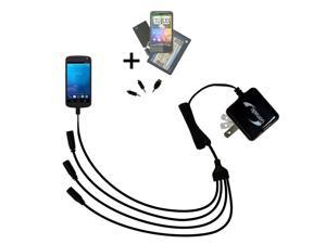 Quad output Wall Charger includes tip for the Samsung Galaxy Nexus CDMA