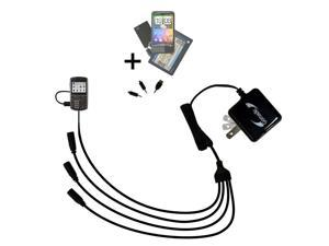 Quad output Wall Charger includes tip for the Cricket TXTM8 3G