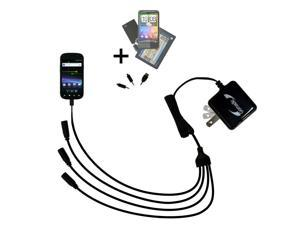 Quad output Wall Charger includes tip for the Samsung Nexus S