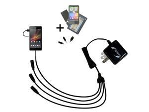 Quad output Wall Charger includes tip for the Sony Xperia ZR