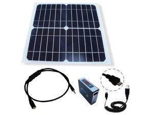 offgrid 10W solar panel power kit with 20Wh battery pack for Arduino Nano / Micro / SainSmart / HOSSEN / Iduino / YUN / DUE / Le