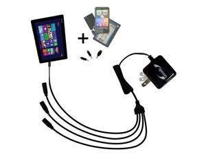 Quad output Wall Charger includes tip for the Asus Transformer T100 T100TA-H1-GR T100TA-C1-GR