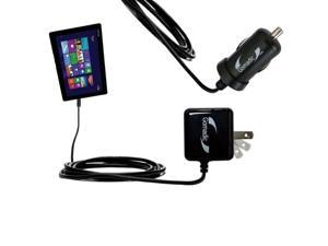 Car & Home Charger Kit compatible with the Asus Transformer T100 T100TA-H1-GR T100TA-C1-GR