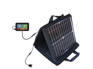 SunVolt Solar Charger compatible with the Mio Spirit 6900 / 6950 / 6970 LM and one other device - charge from sun at wall outlet