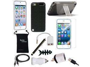Apple iPod Touch 5th & iPod Touch 6th Generation Case - DigitalsOnDemand ® 12-Item Accessory Bundle for Apple iPod 5 & iPod 6 Gen - Slim Cover Case With Stand, USB Cables + Chargers, Screen Protector