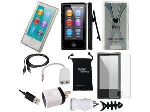 DigitalsOnDemand ® 11-Item Accessory Bundle Kit for Apple iPod Nano 7th Generation 16GB (Newest Model) - Slim Case Cover, ...