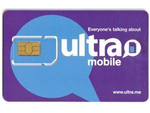 Ultra Mobile PrePaid Blank Sim Card, $29 Unlimited Nationwide Talking, 4G Data