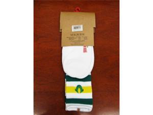 True Religion TR004 One Pair Green / Yellow Striped Men's Tube Socks