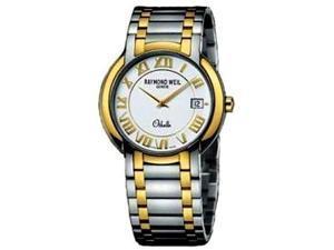 Raymond Weil 2310-STG-00308 Othello White Dial Two Tone Stainless Men's Watch