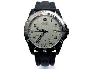 Wenger 79016 Charcoal Dial Black Silicone Strap Men's Watch