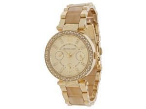 Michael Kors MK5842 Gold Dial Two Tone Chrono Women's Watch