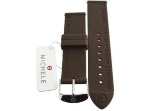 Michele Sport Sail 16mm Brown Silicone Strap Watch Band MB034