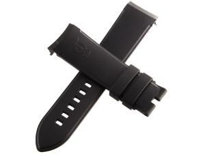 Arnold & Son 22mm Black Silicone Strap Watch Band AS001