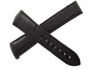 Omega Planet Ocean 22mm x 18mm Black Croc Leather Strap 98000272