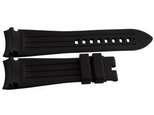 Graham 24mm Black Rubber Silicone Strap Watch Band GR003