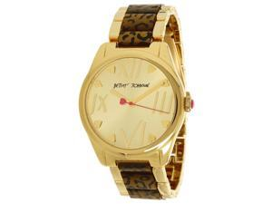 Betsey Johnson BJ00105-02 Gold Dial Gold Tone Bracelet Women's Watch
