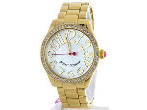 Betsey Johnson BJ00290-08 Silver Dial Gold Tone Women's Watch