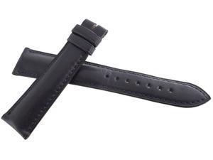 Ulysse Nardin NOS 20x18mm Navy Blue Leather Men's Watch Band UN-023