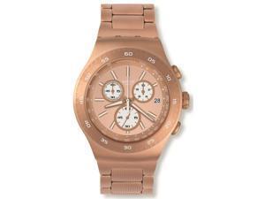 Swatch YOG408G Rose Gold Dial Rose Gold Chronograph Women's Watch