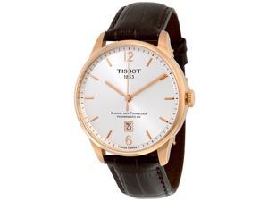 Tissot T0994073603700 Silver Dial Leather Strap Automatic Men's Watch