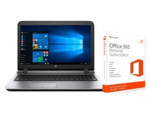 """HP ProBook 455 AMD A-Series A10-8700P Quad-core 16GB 1TB G3 15.6"""" LED Notebook + Microsoft Office 365 1 year subscription"""