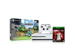 Microsoft Xbox One S 500GB Console - Minecraft Bundle with NBA 2K17