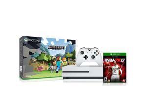 Microsoft Xbox One S 500GB Console - Minecraft Bundle with NBA 2K17