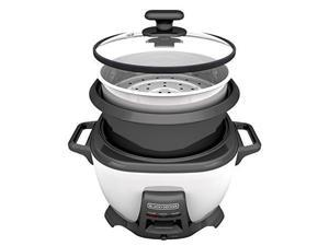 Black & Decker 14-Cup Rice Cooker with Saute Function, White RCS614