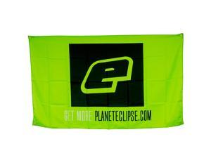 Planet Eclipse Cloth Banner - 3' x 5' - Eclipse Lime / Black