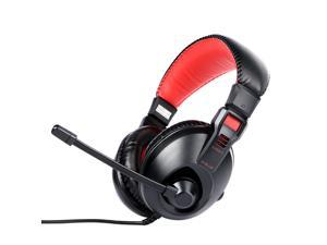 E-blue e-3lue EHS011 Black Red Type 3.5mm-plug Wired Computer Gaming Headset Headphone with MIC
