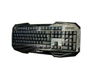 A-JAZZ A Jazz Wolfteam USB Backlight Blue LED Ergonomic Gaming Multimedia Keyboard