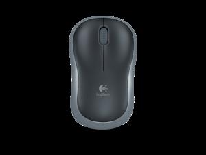Logitech M185 black 3 Buttons 1 x Wheel USB 2.4Ghz RF Wireless Mouse