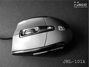 JSCO™ JNL-101 Silent Quiet 96% Noiseless Click Button Wired Gaming Optical Mouse 1600 DPI