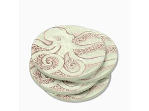 McCarter Coasters Set of 4 Stoneware Drink Coasters - Octopus