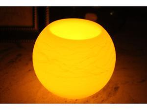 EcoGecko 6-Inch Wax Sphere LED Flameless Candle with 5 Hour Timer