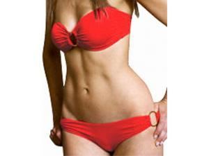 Flirtzy Sexy Strapless Bandeau Tube Top Brazilian Back Bikini Swimwear Style 02099