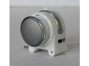 uTronix Rechargeable Mini Portable Speaker Super Stereo Speaker 3.5MM Stereo Jack for MP3 MP4 IPOD iPad Computer - White (EK52841)